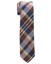 braune Krawatte mit Schottenmuster