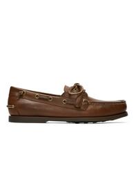 braune Leder Bootsschuhe von Polo Ralph Lauren
