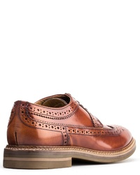 braune Leder Brogues von Base London