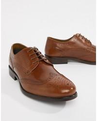 braune Leder Brogues von Burton Menswear