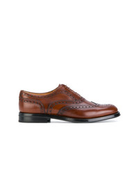 braune Leder Brogues von Church's