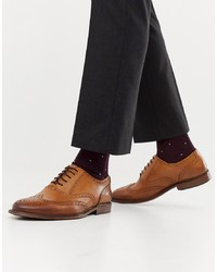 braune Leder Brogues von Office