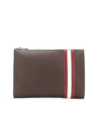 braune Leder Clutch Handtasche von Bally