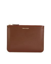 braune Leder Clutch Handtasche von Comme Des Garçons Wallet