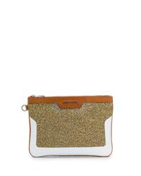 braune Leder Clutch Handtasche von Jimmy Choo