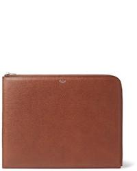 braune Leder Clutch Handtasche von Mulberry