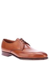 braune Leder Derby Schuhe