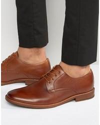 braune Leder Derby Schuhe von Aldo
