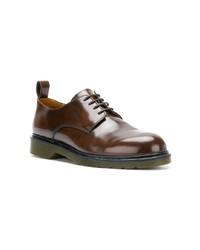 braune Leder Derby Schuhe von AMI Alexandre Mattiussi