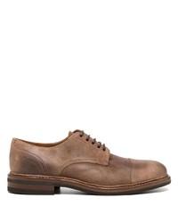 braune Leder Derby Schuhe von Brunello Cucinelli