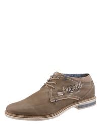 braune Leder Derby Schuhe von Bugatti