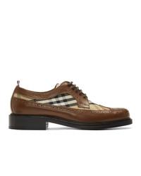 braune Leder Derby Schuhe von Burberry