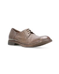 braune Leder Derby Schuhe von Pantanetti
