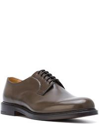 braune Leder Derby Schuhe von Church's