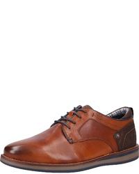braune Leder Derby Schuhe von Dockers by Gerli