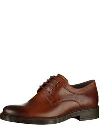braune Leder Derby Schuhe von Ecco