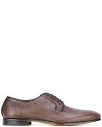 braune Leder Derby Schuhe von Fabi