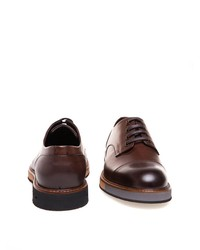 braune Leder Derby Schuhe von Greyder