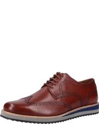 braune Leder Derby Schuhe von Josef Seibel