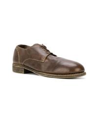 braune Leder Derby Schuhe von Guidi