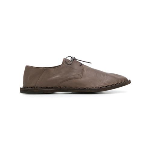 braune Leder Derby Schuhe von Officine Creative
