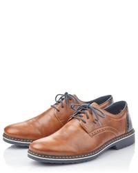 braune Leder Derby Schuhe von Rieker