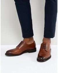 braune Leder Derby Schuhe von Selected Homme