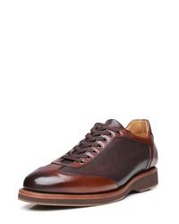 braune Leder Derby Schuhe von SHOEPASSION