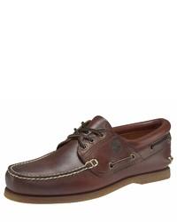braune Leder Derby Schuhe von Timberland