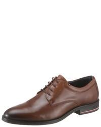 braune Leder Derby Schuhe von Tommy Hilfiger