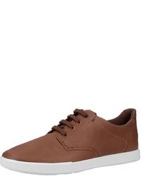 braune Leder niedrige Sneakers von Ecco