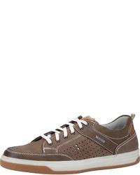 braune Leder niedrige Sneakers von FRETZ men