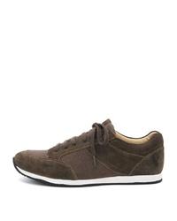 braune Leder niedrige Sneakers von SPIETH & WENSKY