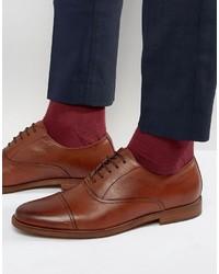 Braune Leder Oxford Schuhe von Aldo