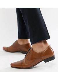 braune Leder Oxford Schuhe von ASOS DESIGN
