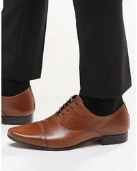 braune Leder Oxford Schuhe von Asos