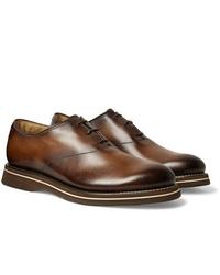 braune Leder Oxford Schuhe von Berluti