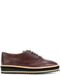 braune Leder Oxford Schuhe von Castaner