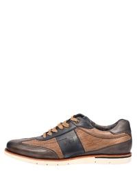 braune Leder Oxford Schuhe von Daniel Hechter