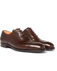 braune Leder Oxford Schuhe von George Cleverley