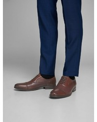 braune Leder Oxford Schuhe von Jack & Jones