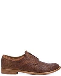 Braune Leder Oxford Schuhe von Officine Creative