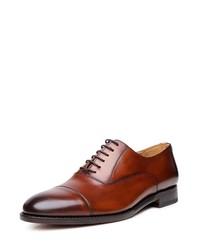 braune Leder Oxford Schuhe von SHOEPASSION