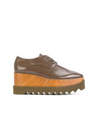 braune Leder Oxford Schuhe von Stella McCartney