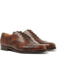 braune Leder Oxford Schuhe von Tricker's