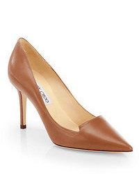 Braune Leder Pumps