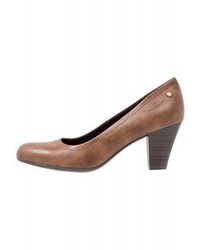 Braune Leder Pumps von Tom Tailor