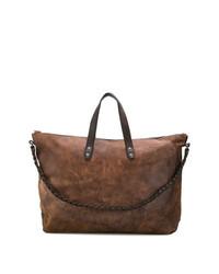 braune Leder Reisetasche von Ajmone