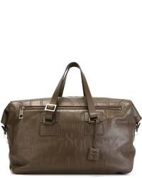 braune Leder Reisetasche von Assouline