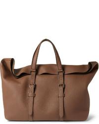 braune Leder Reisetasche von Gucci